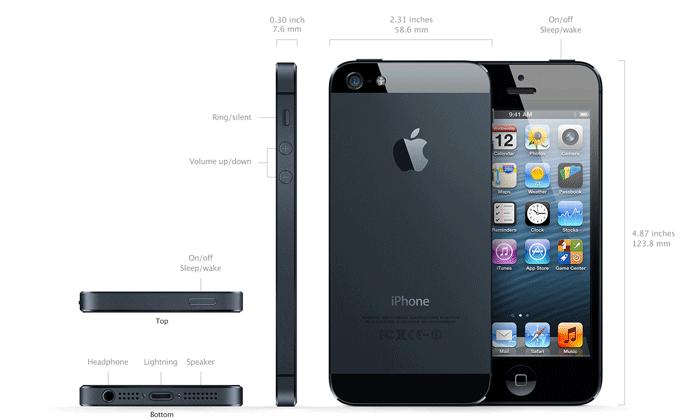 iPhone 5 مشخصات