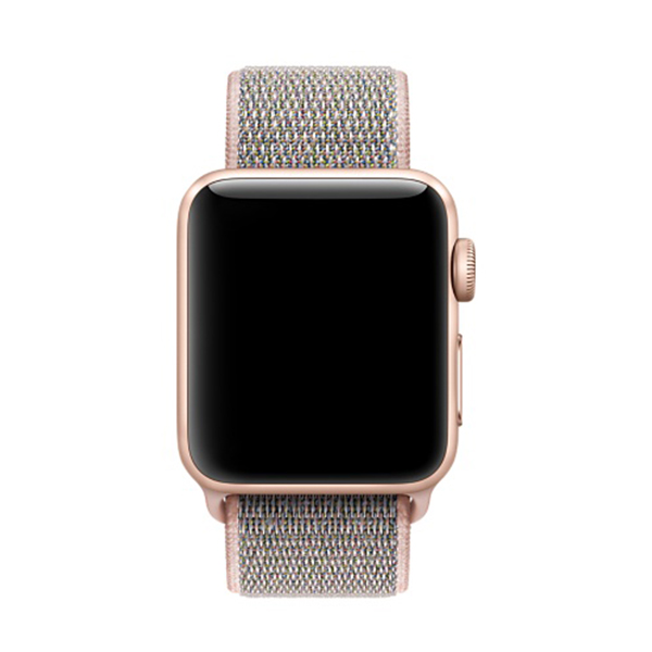 عکس بند اپل واچ اسپرت لوپ مدل Nylon Pink Sand، عکس Apple Watch Band Sport Loop Nylon Pink Sand