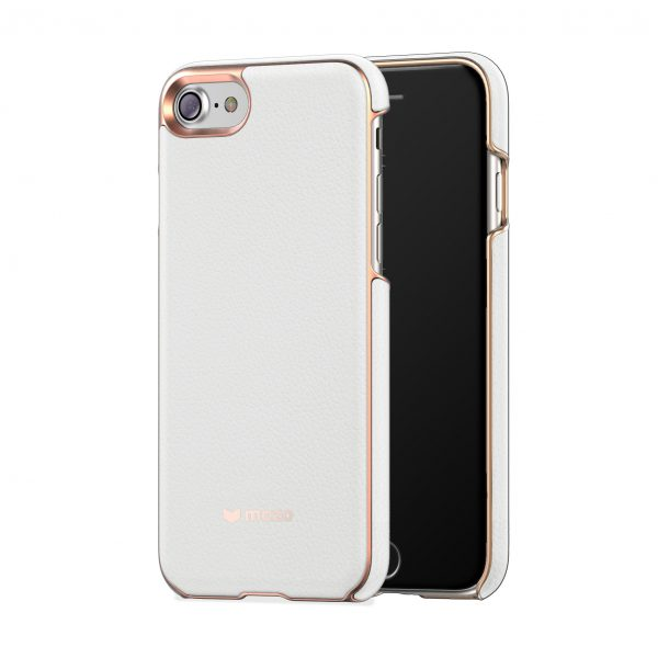 iPhone 8/7 Case Mozo White Leather، قاب آیفون 8/7 موزو مدل White Leather
