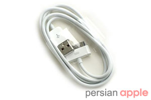 iPhone4 USB Power Adapter & Cable ﴿ کابل USB و آداپتور برق آیفون 4 ﴾