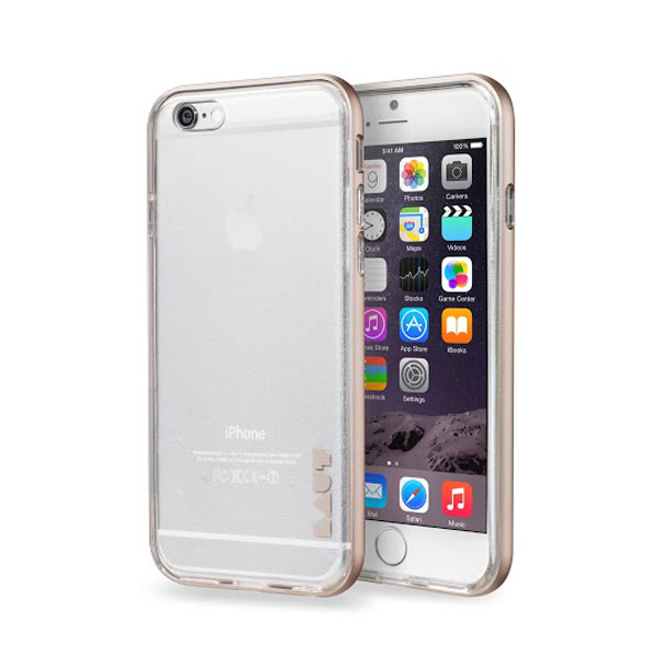 iPhone 6/6S Case LAUT EXOFRAME - Gold، قاب آیفون 6 اس لائوت مدل اکزوفریم طلایی