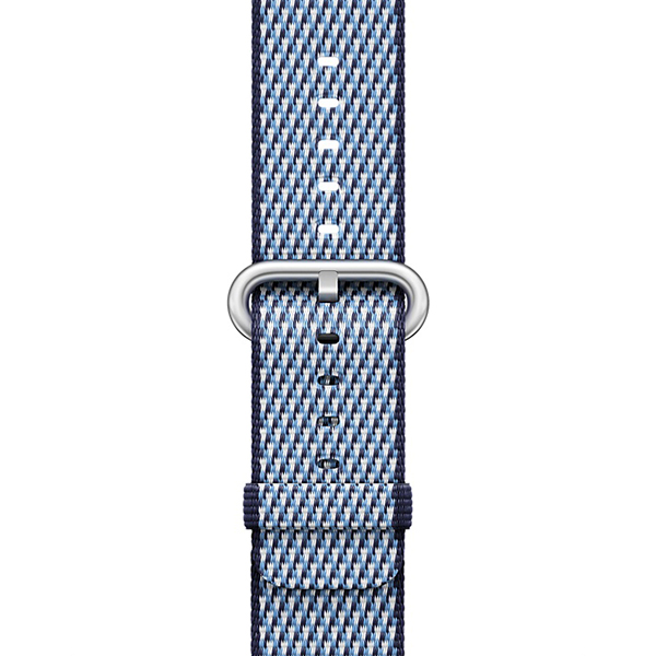 Apple Watch Band Woven Nylon Midnight Blue Check، بند اپل واچ نایلون مدل Woven Midnight Blue Check