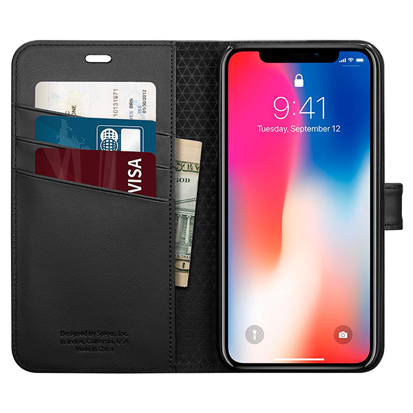 iPhone X Case Spigen Wallet S 22176، قاب آیفون ایکس اسپیژن مدل Wallet S
