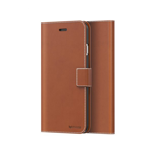 iPhone 8/7 Plus Case Mozo Flip Cover Brown، کیف آیفون 8/7 پلاس موزو فلیپ کاور قهوه ای
