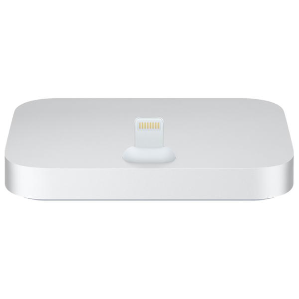 iPhone Lightning Dock Silver، داک شارژ آیفون نقره ای