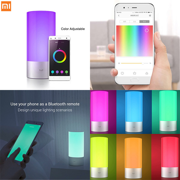 گالری Xiaomi Yeelight LED Bluetooth Bedside Lamp، گالری چراغ خواب LED شياومي مدل Yeelight LED Bluetooth