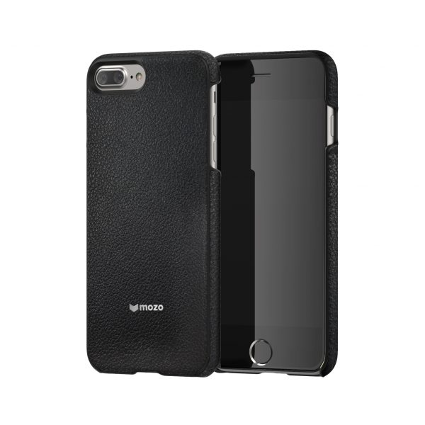 iPhone 8/7 Plus Case Mozo Black Leather، قاب آیفون 8/7 پلاس موزو مدل Black Leather