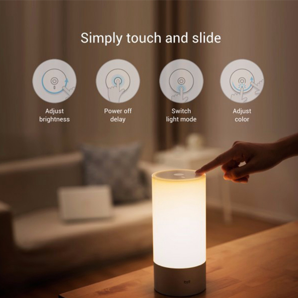 ویدیو Xiaomi Yeelight LED Bluetooth Bedside Lamp، ویدیو چراغ خواب LED شياومي مدل Yeelight LED Bluetooth