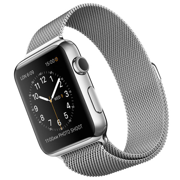 Apple Watch Watch Stainless Steel Case with Milanese Loop Band 42mm، ساعت اپل بدنه استیل بند میلان فلزی 42 میلیمتر