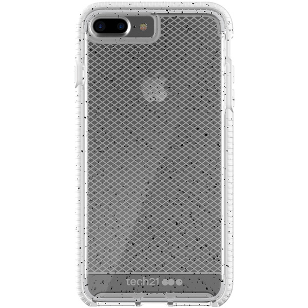 iPhone 8/7 Plus Case Tech21 Evo Check Active Clear White، قاب آیفون 8/7 پلاس تک ۲۱ مدل Evo Check Active کریستالی سفید