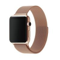 بند اپل واچ Apple Watch Band Rose Gold Milanese Loop ﴿ بند اپل واچ میلان رزگلد ﴾