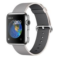 Apple Watch Watch Stainless Steel Case with Pearl Woven Nylon 42mm، ساعت اپل بدنه استیل بند نایلون صدفی 42 میلیمتر