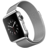 Apple Watch Watch Stainless Steel Case with Milanese Loop Band 38mm، ساعت اپل بدنه استیل بند میلان فلزی 38 میلیمتر