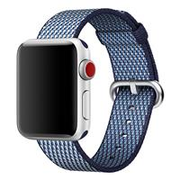 بند اپل واچ Apple Watch Band Woven Nylon Midnight Blue Check ﴿ بند اپل واچ نایلون مدل Woven Midnight Blue Check ﴾