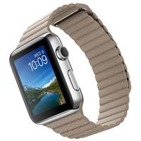Apple Watch Apple Watch 42mm Stainless Steel Case Stone Leather loop Band، ساعت اپل اپل واچ 42 میلیمتر بدنه استیل بند چرم سنگی لوپ