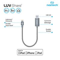 Lightning to USB Cable and OTG Naztech LUV Share ﴿ کابل لایتنینگ به یو اس بی و OTG نزتک مدل LUV Share ﴾
