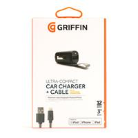 Car Charger Griffin Small With Lightning Connector ﴿ شارژر فندکی گریفین مدل اسمال با کابل لایتنینگ ﴾