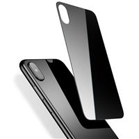 iPhone X Full Back Cover Tempered Glass Black، گلس پشت آیفون ایکس مشکی