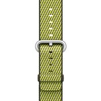 Apple Watch Band Woven Nylon Dark Olive Check، بند اپل واچ نایلون مدل Woven Dark Olive Check