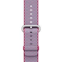 Apple Watch Band Woven Nylon Berry Check، بند اپل واچ نایلون مدل Woven Berry Check