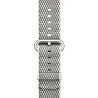 Apple Watch Band Woven Nylon White Check، بند اپل واچ نایلون مدل Woven White Check