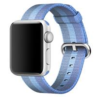 بند اپل واچ Apple Watch Band Woven Nylon Tahoe Blue Stripe ﴿ بند اپل واچ نایلون مدل Woven Tahoe Blue Stripe ﴾