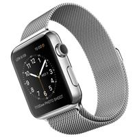 Apple Watch Stainless Steel Case with Milanese Loop Band 42mm، ساعت اپل بدنه استیل بند میلان فلزی 42 میلیمتر